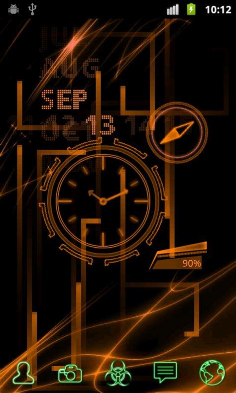 live themes mobil9 neonclock legacy livewallpaper android apps on google play