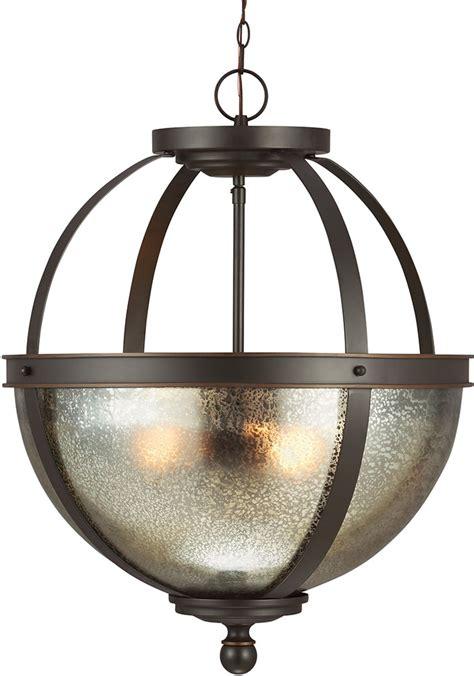 Drop Ceiling Light Fixture Seagull 6610403 715 Sfera Contemporary Autumn Bronze Drop