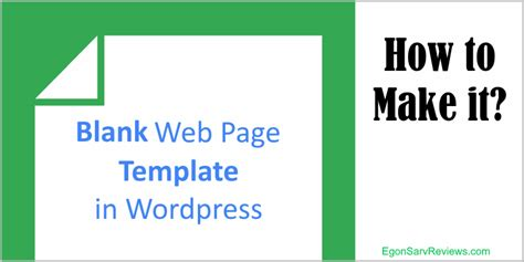 wordpress theme editor blank page blank web page template in wordpress how to make it