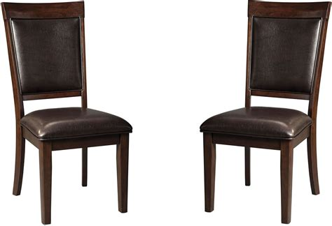 shadyn brown dining upholstered side chair set of 2 from
