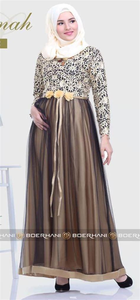 baju kurung borkat model baju gamis brokat untuk orang gemuk dan pantas