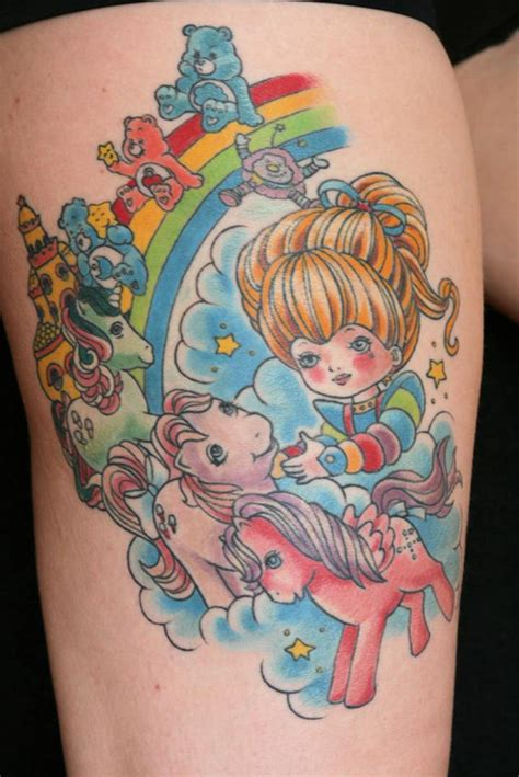 rainbow brite tattoo designs rainbow brite my pony care bears 80s