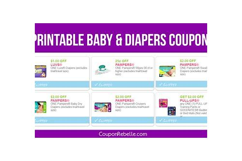 coupons on baby diapers