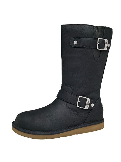 uggs black leather boots