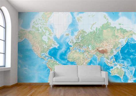 Map Of The World Wall Mural mappe e cartine geografiche murali personalizzate