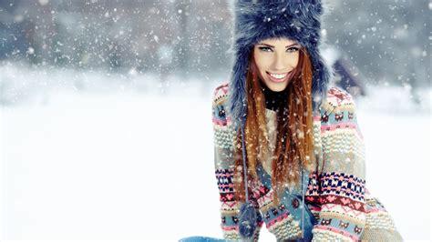 wallpaper girl in cap wallpaper snow winter woman hat girl in winter cap