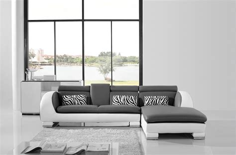 Grey And White Sofa by Modern White Grey L Shape Sofa