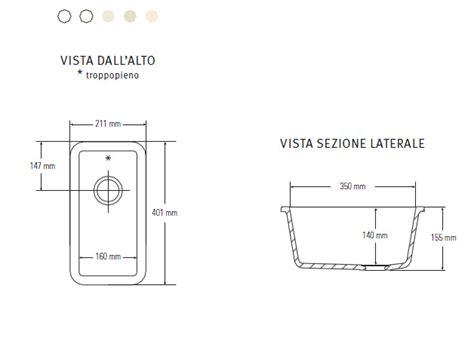 lavello piccolo tecnomobili collezione standard