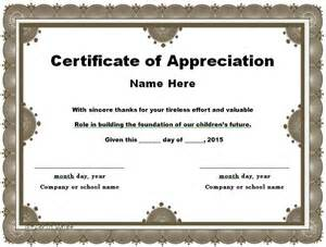 free templates for certificate of appreciation 30 free certificate of appreciation templates and letters