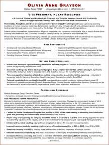 Best Executive Resumes Samples free executive resume sample for hr vp doc pdf 2 page s