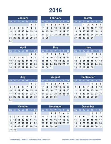 calendar 2016 only printable yearly calendar 2016 only printable yearly pictures to pin on