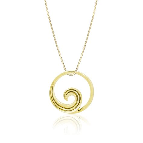 Jewelry Companies by 14k Yellow Gold Wave Pendant