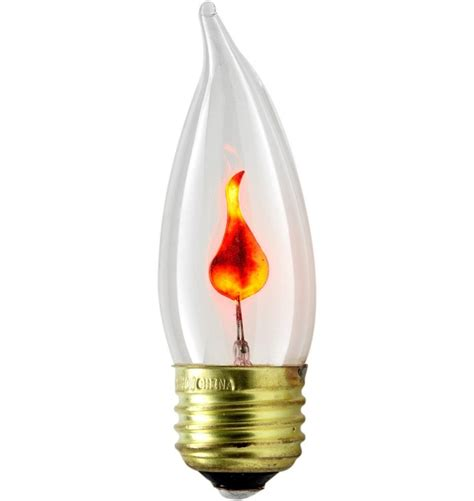 Chandelier Bulb Base Size 1pc Flickering Flame Standard Light Bulbs 3w Realistic