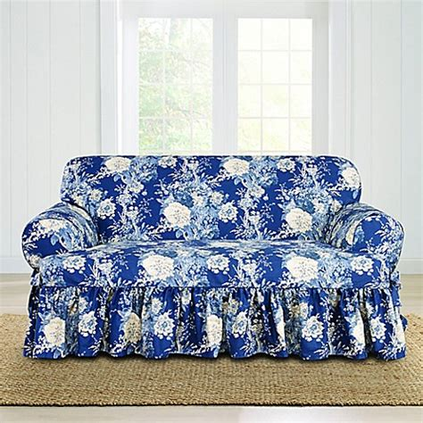 waverly slipcovers sale sure fit 174 ballad bouquet by waverly t cushion loveseat
