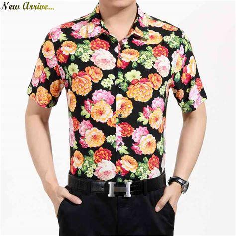Flower Shirt Isn free shipping mens sleeve cotton flower shirt