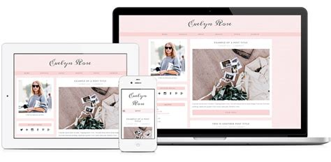 blogspot themes shop evelyn rose pastel pink responsive blogger template