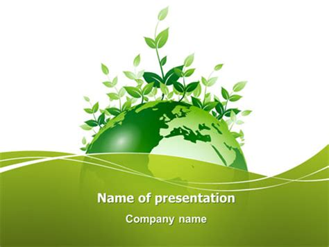 Green Environment Presentation Template For Powerpoint And Keynote Ppt Star Environmental Powerpoint Templates