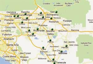 map of inland empire california inland quotes quotesgram