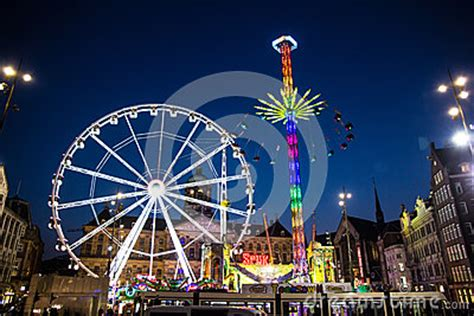 theme park near amsterdam amsterdam fun fair editorial stock image image 41147979