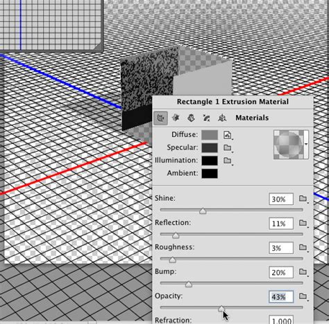 extend pattern in photoshop changing the extrusion opacity of 3d object in photoshop