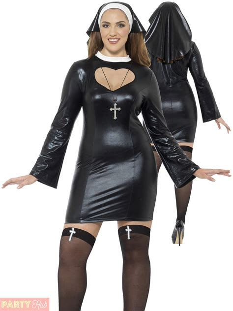 clothing shoes accessories costumes womens costumes ladies curves nun costume womens plus size sexy religious