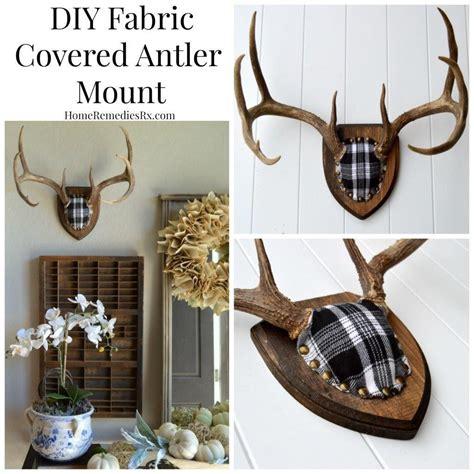 deer antler home decor diy fabric covered antler mount fabric covered antlers