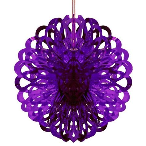 purple foil ball decoration