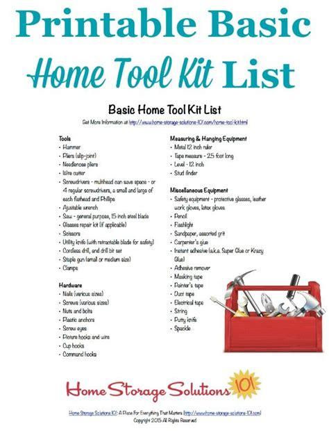 household essentials list basic home tool kit list make sure you have the