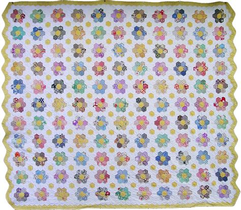 Grandmother S Flower Garden Quilt Grandmother S Flower Garden Quilt Q Is For Quilter