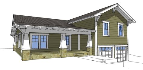 Craftsman Split Level 44067td 2nd Floor Master Suite Narrow Lot House Plans With Drive Garage