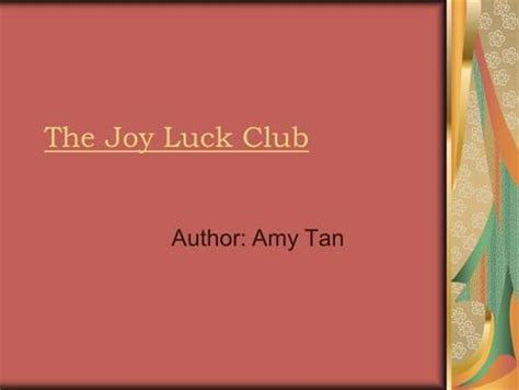 the joy luck club themes and motifs the joy luck club by amy tan ppt video online download