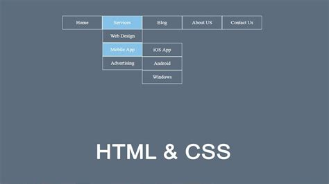 tutorial css menu drop down how to create drop down menu in html and css dropdown