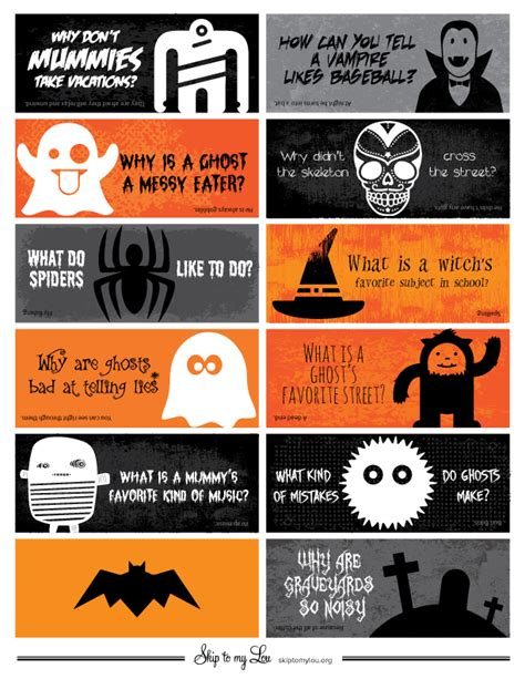 printable halloween jokes and riddles free printable halloween lunch box jokes skip to my lou