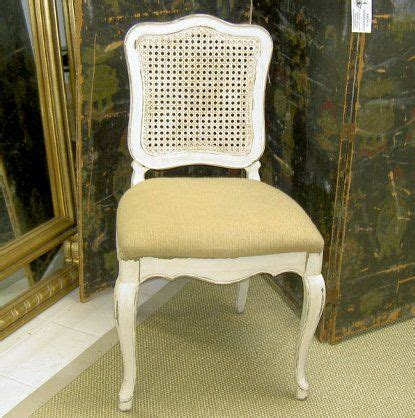 paint chairs creamy white slim cushion  seat covered