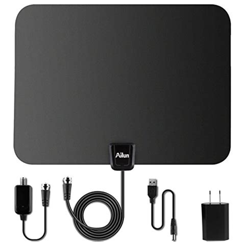 galleon tv antenna by ailun ultra thin indoor hdtv antenna for high reception 50 mile range
