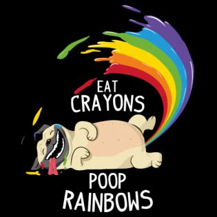 pug i eat crayons and rainbows arc en ciel shirts shirtcity fr
