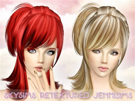 small ponytail hairstyle 228 by skysims sims 3 hairs rumpled small side tail with bangs hairstyle skysims