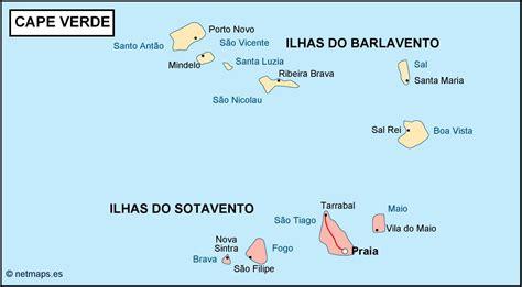 cape verde islands map kap verde karte st 228 dte