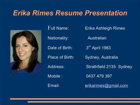 resume building powerpoint presentation