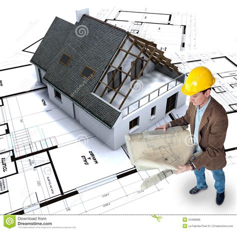 planning for house construction home building stock photo image of architecture model