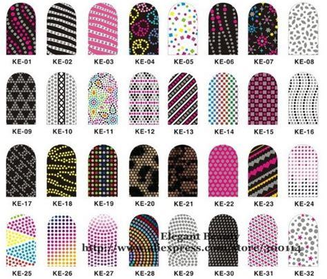 printable nail art stickers wholesale 2014 new arrival mix 192 style 3d nail sticker