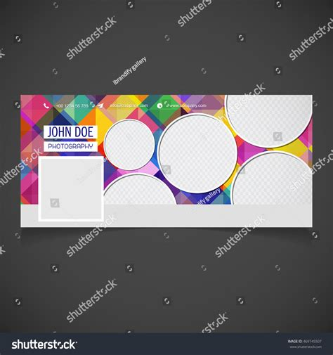 photography banner template creative photography banner template place image stock vector 469745507