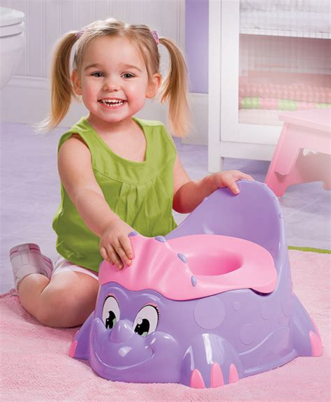 girl on toilet potty training quot hey look i got my very own big girl dinosaur potty