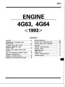 Engine 4g63 Manual Mitsubishi Mitsubishi 4g63 4g64 Engine Throttle Distributor