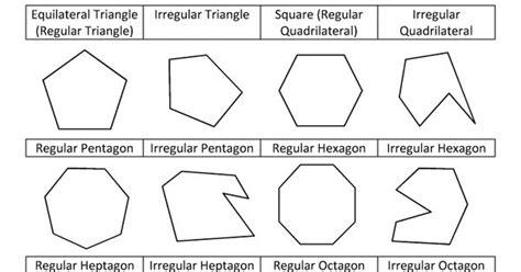 printable regular and irregular shapes printable shapes regular and irregular shapes bw maths
