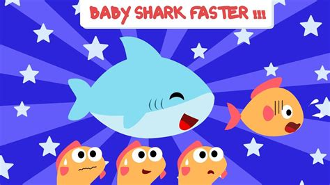 Baby Shark Old Version | faster version of baby shark faster and faster baby