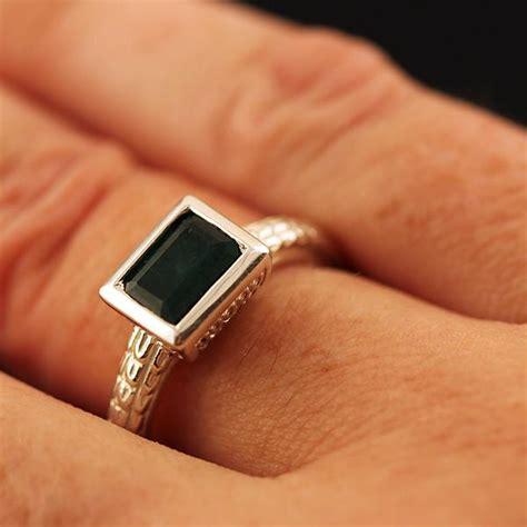 sterling silver emerald box ring atocha re creation mel