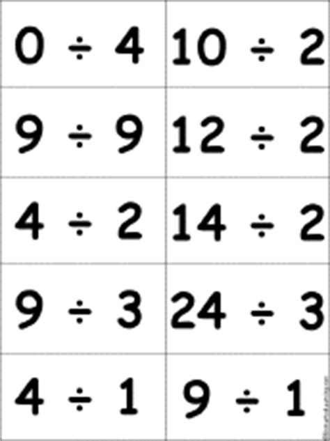 printable division flashcards with answers printable flashcards for bingo games enchantedlearning com