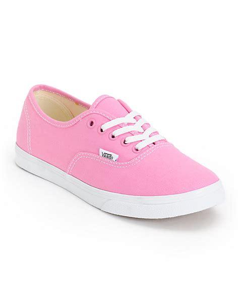 vans authentic lo pro rosebloom pink true white