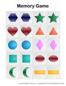 printable memory game for kids printables for kids